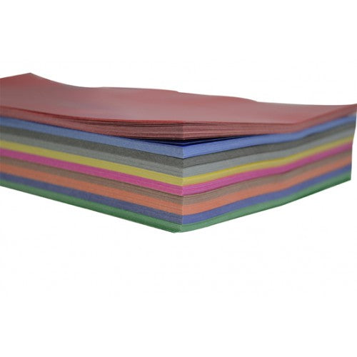 Rainbow Premium Glossy Paper Rectangle 84GSM Single Sided 125mm X 250mm 360 Sheets Per PVC Box Assorted