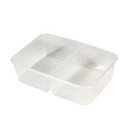 Genfac 650ml Container with 2 Compartments Natural