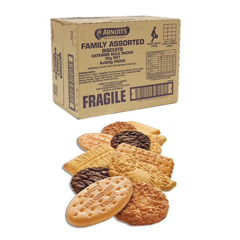 Arnott's Family Assorted Biscuits 3kg