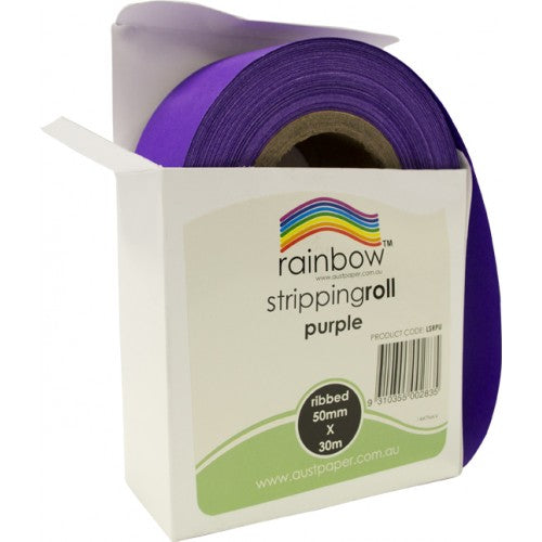 Rainbow Stripping Roll Ribbed 50mm X 30m Purple