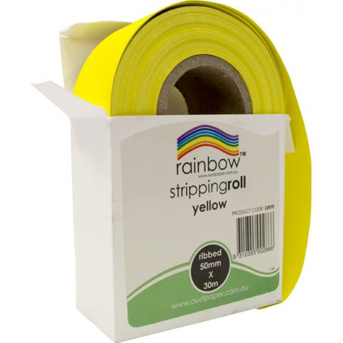 Rainbow Stripping Roll Ribbed 50mm X 30m Yellow