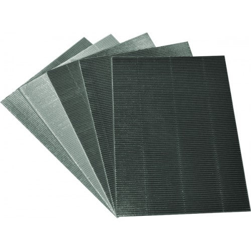 Rainbow Metallic Corrugated Board A4 10Sheets Silver
