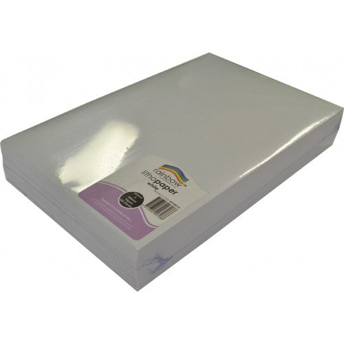 Rainbow MG Litho 94GSM 380mm X 255mm 500 Sheets White.