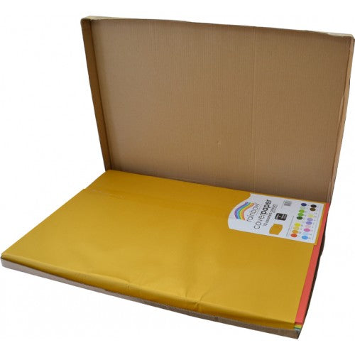 Rainbow cover Paper 510mm X 760mm 10 Colour 250 Sheets Assorted.