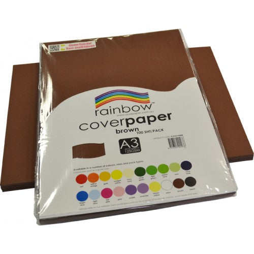 Brown 100 Sheets A3 Cover Paper
