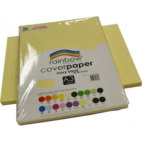 Rainbow A3 Cover Paper Ivory Sand 100 Sheets