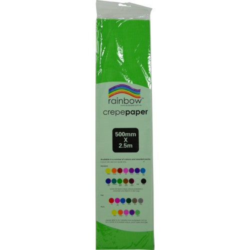 Rainbow Crepe Tissue Paper Grass Green