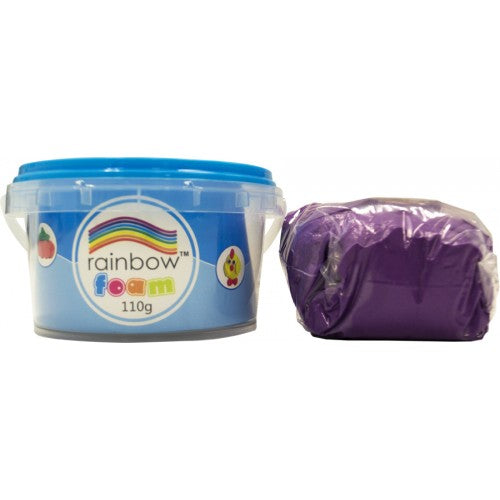 Rainbow Foam Signle Colour 110g Tub - Purple
