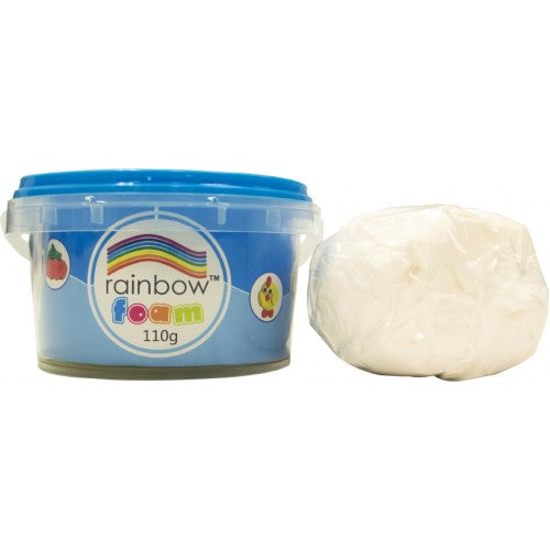 Rainbow Foam Tub White 110g