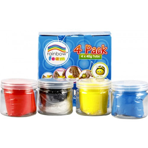 Rainbow My Craft Foam 4 X 40g Retail Pack Assorted