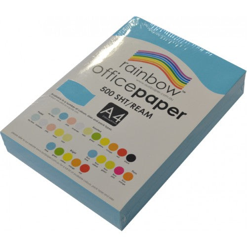 Rainbow Office Paper A4 80gsm 500 Sheets Blue