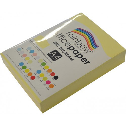 Rainbow Office Paper A4 80gsm 500 Sheets Sand
