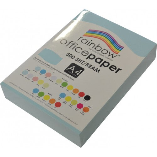 Rainbow Office Paper A4 80gsm 500 Sheets Sky Blue