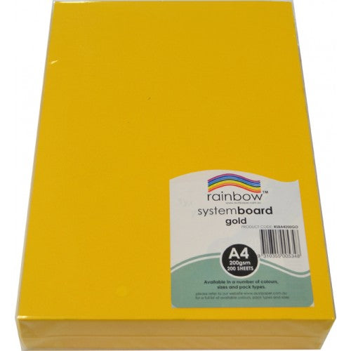 Rainbow System Board 200GSM A4 200 Sheets