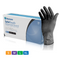 Medicom Safe Touch Advanced Guard Examination Nitrile Gloves Powder Free Black 100pcs