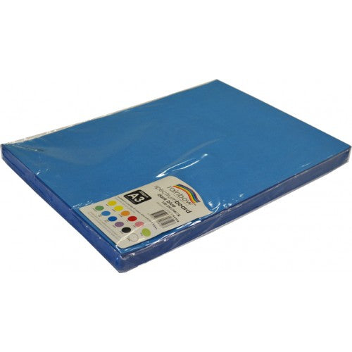 Rainbow Spectrum Board 200gsm A3 100 Sheets Dark Blue.