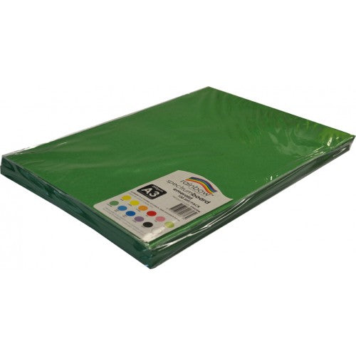 Rainbow Spectrum Board 200gsm A3 100 Sheets Emerald.