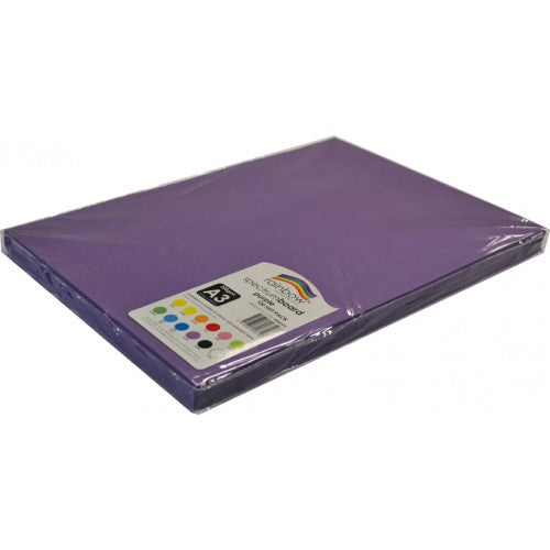 Rainbow Spectrum Board 200gsm A3 100 Sheets Purple.