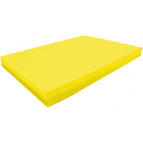 Rainbow Spectrum Board 200GSM 510mm X 640mm 100 Sheets Yellow.