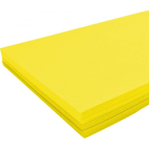 Rainbow Spectrum Board 200GSM A4 100 Sheets Yellow.