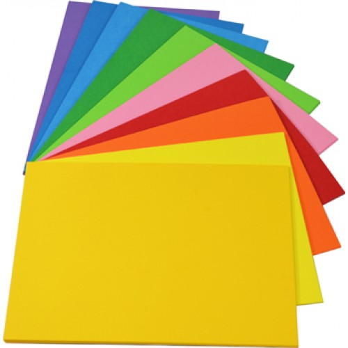 Rainbow Spectrum Board 200gsm A4 100 Sheets Assorted.