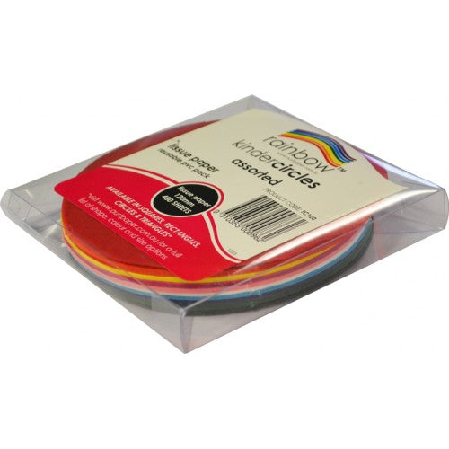 Rainbow Premium Tissue Circles 17GSM Double Sided 120mm 480 Sheets Per PVC Box Assorted