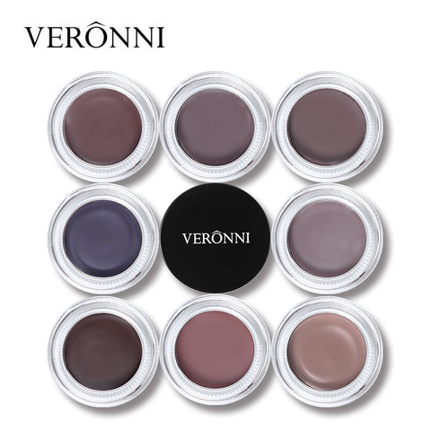 VERONNI Brand 8 Color Eyebrow Cream Makeup Gel Natural Pigmented Brown Eye Brow Tint Waterproof Long Lasting Enhancer Cosmetics