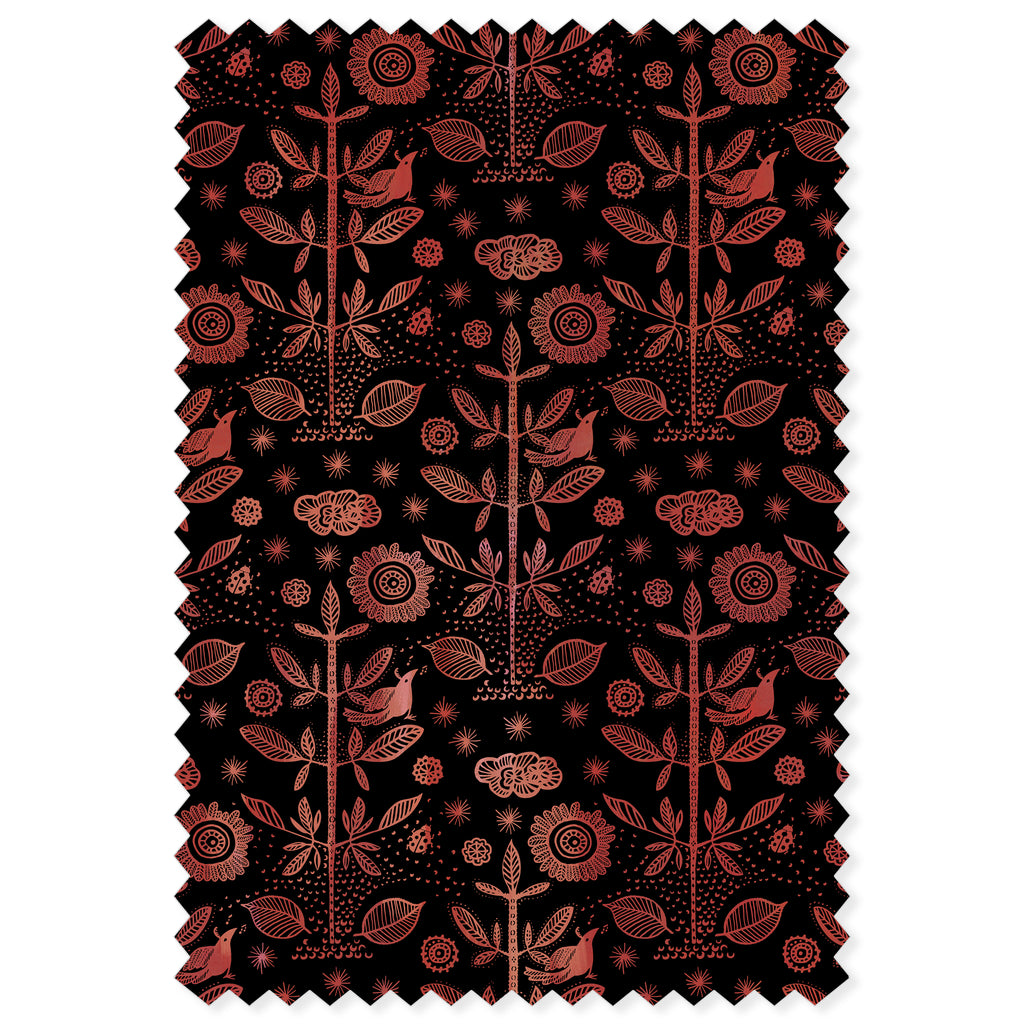Good Fortune / Cinnabar Damask