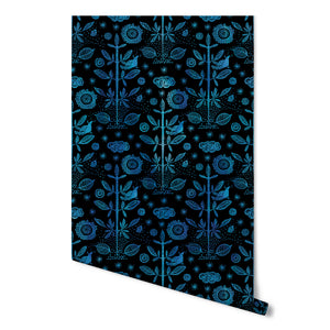 Good Fortune / Indigo Damask