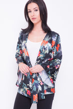 Load image into Gallery viewer, Floral Print Satin Kimono - sonrisa-clothing-uk