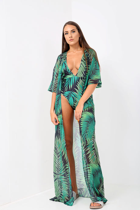 Tropical Swimsuit Kimono Set - sonrisa-clothing-uk