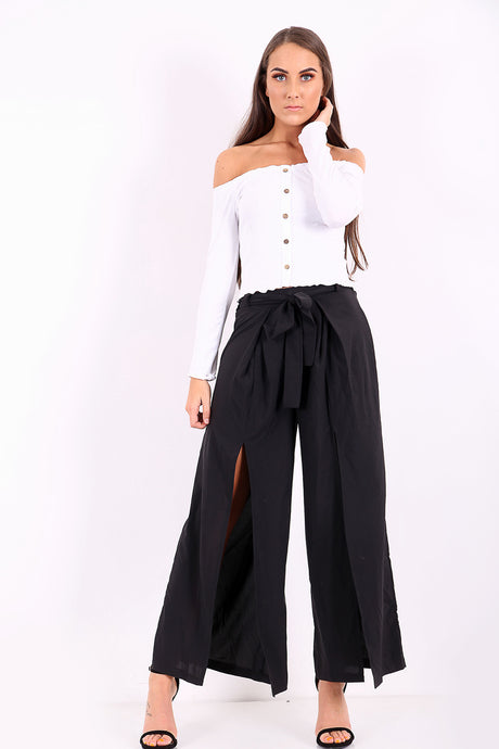 Front Split Tie Trousers - sonrisa-clothing-uk