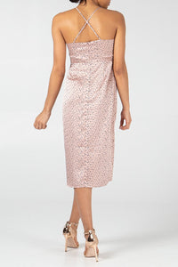 Dotted Rosé Dress - sonrisa-clothing-uk