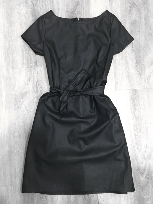 Faux Leather Dress - sonrisa-clothing-uk