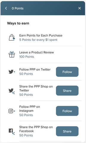 How to Earn Points in the PPP Perks Rewards Program