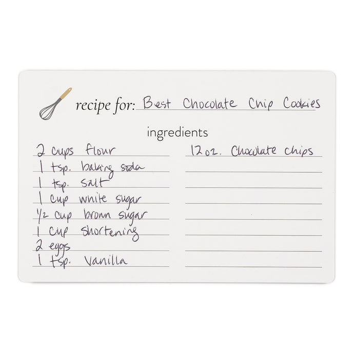 Blank Recipe Cards - Whisk (pack of 25 cards)