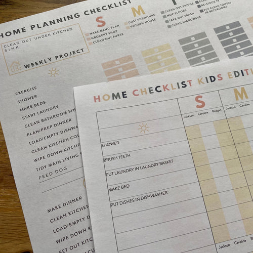 2020 Home Planner Checklists Pack - Editable PDF Download