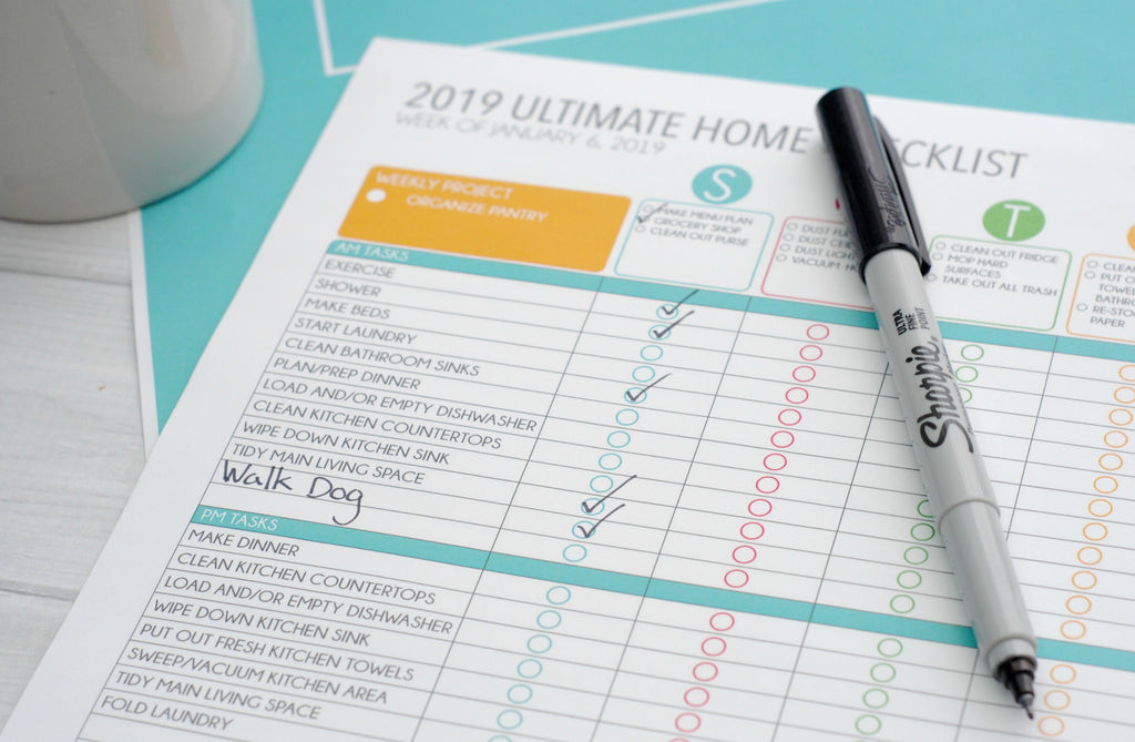 Home Management and Cleaning Checklists