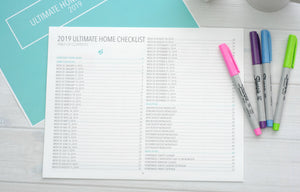 Home Organization Planner Table of Contents
