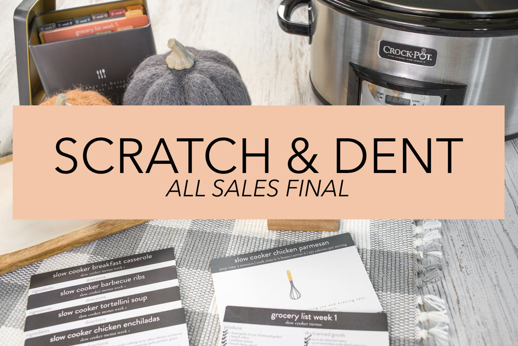 Scratch & Dent ~ Slow Cooker Meal Plans with Recipe Tin