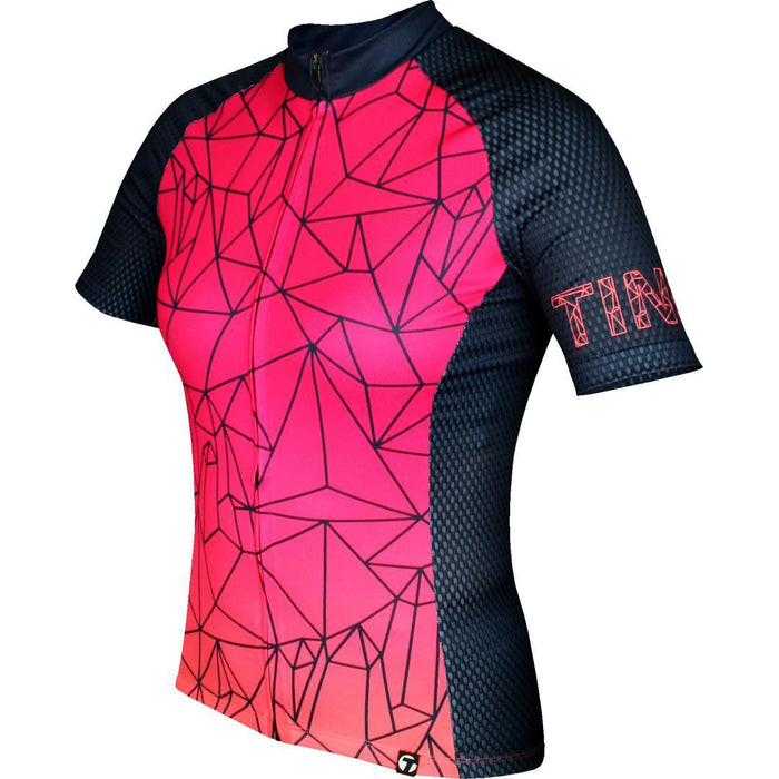 Tinelli - Women's Mozaik Jersey - Black / Pink - front