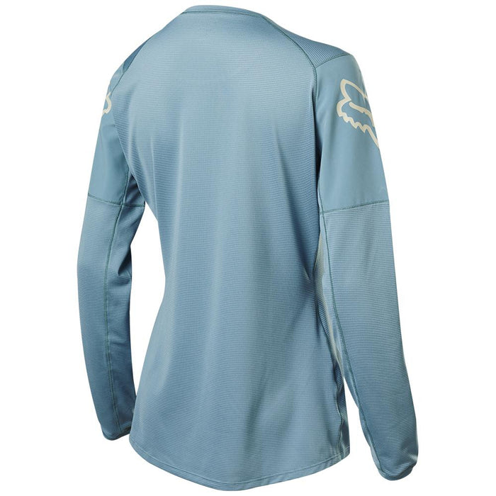 Fox - Womens Flexair Ls Jersey - Light Blue - 2