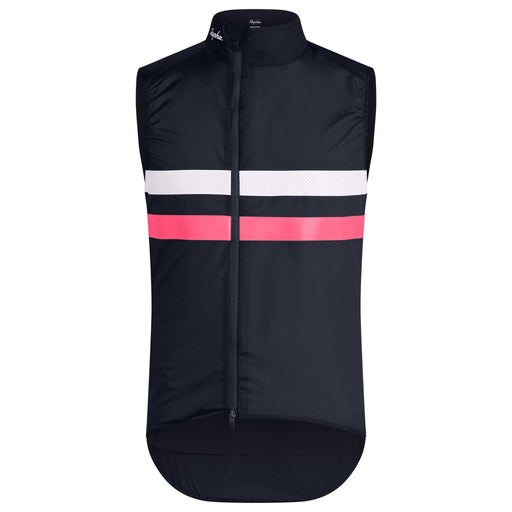 Rapha - Men's Brevet Gilet With Pockets - Dark Navy/Hi-Vis Pink - 1