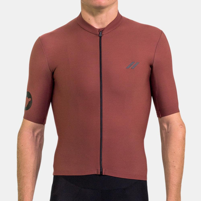 Black Sheep Cycling - Men's Elements Thermal Short Sleeve - Burgundy