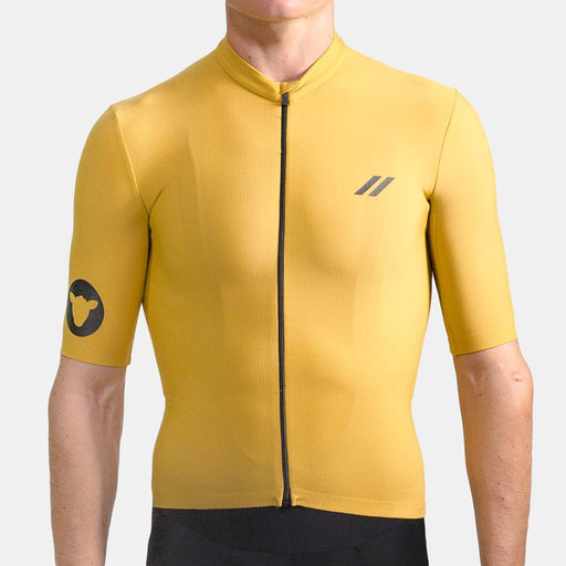 Black Sheep Cycling - Men's Elements Thermal Short Sleeve - Mustard