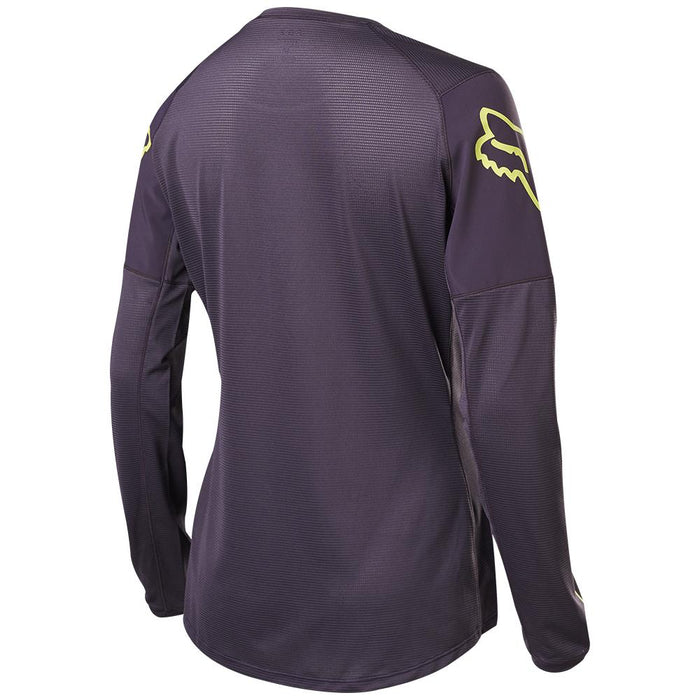 Fox - Womens Flexair Ls Jersey - Dark Purple - 2