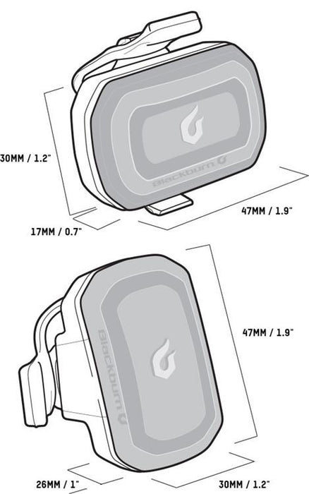blackburn click usb front & rear dimensions