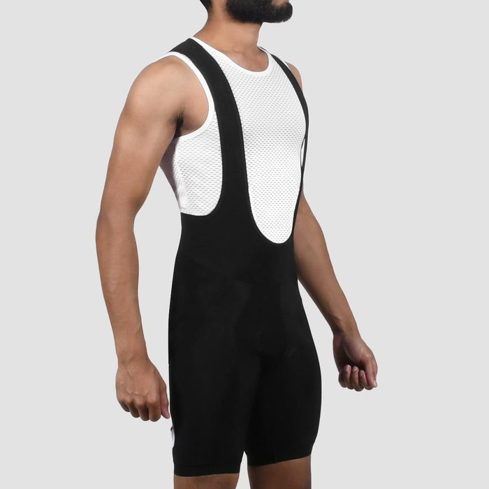 Black Sheep Cycling - Men's Elements Thermal Bib Short - Black on Black