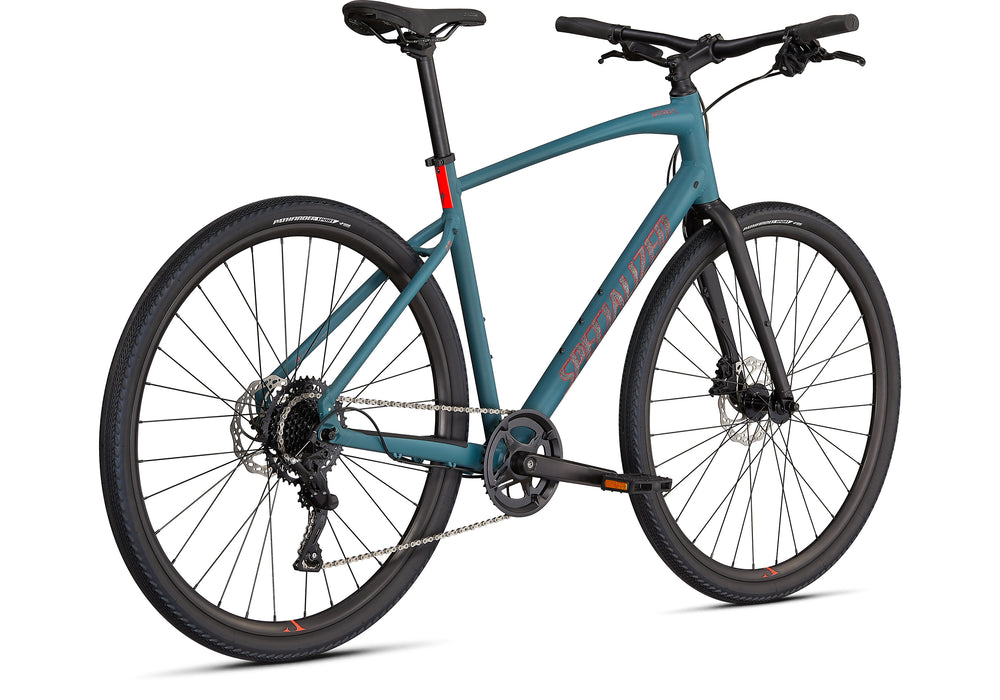 Specialized - Sirrus X 2.0 - 2021 - Dusty Turquoise / Black / Rocket Red - 3
