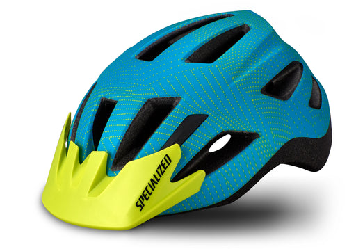 Specialized - Shuffle Child Standard Buckle - 2020 - Aqua/Hyper Green Dot Plane - 1